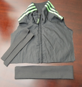 Cut pieces for toddlers tracksuit top/vest
