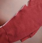 Overlock the inner leg seam