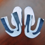Baby or toddler shoe cut pattern pieces