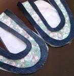 Baby Shoe cut pattern pieces