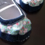 Part finished Baby toddler shoes