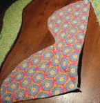 Sew side panels together