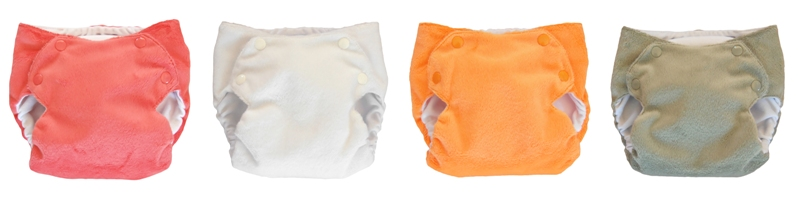 Hatchlings Cloth Nappies new minky colours