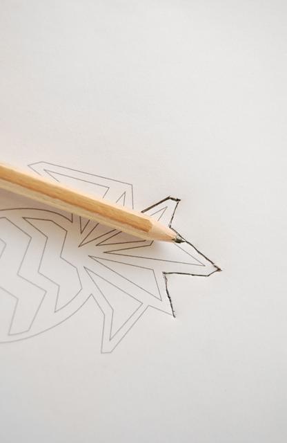 Trace your design onto craft foam