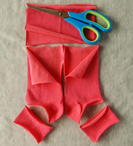 Cutting guide socks to bloomers tutorial by sew4bub