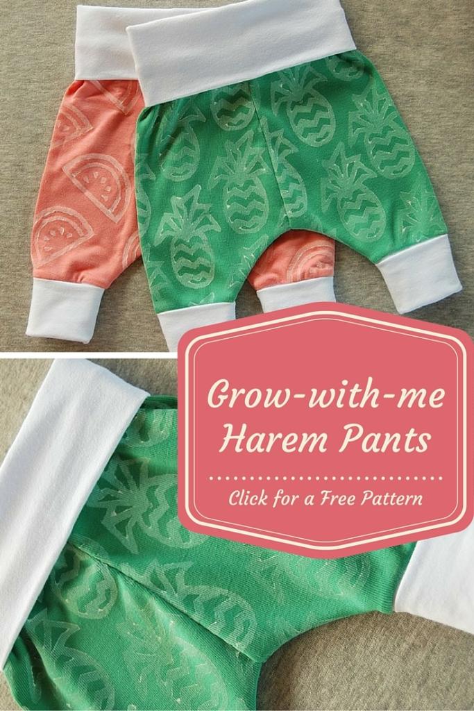 Grow-with-me Harem Pants [free pattern]