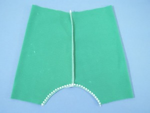 Sew the crotch seam