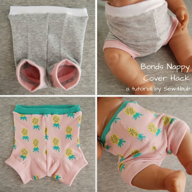 5 min Bonds nappy cover hack sew4bub