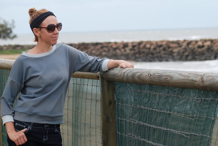 Pattern Testing the Slouchy Sweatshirt by Nap-time Creations