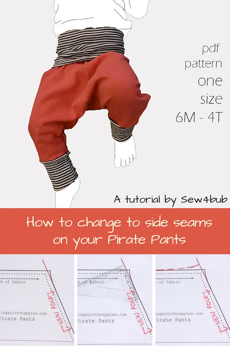 How to change to side seams on your Pirate Pants [harem pants ...