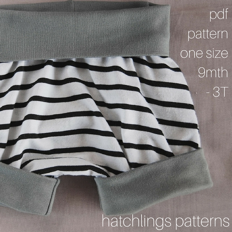 Hatchlings Grow-with-me Shorties one-size 9M - 3T