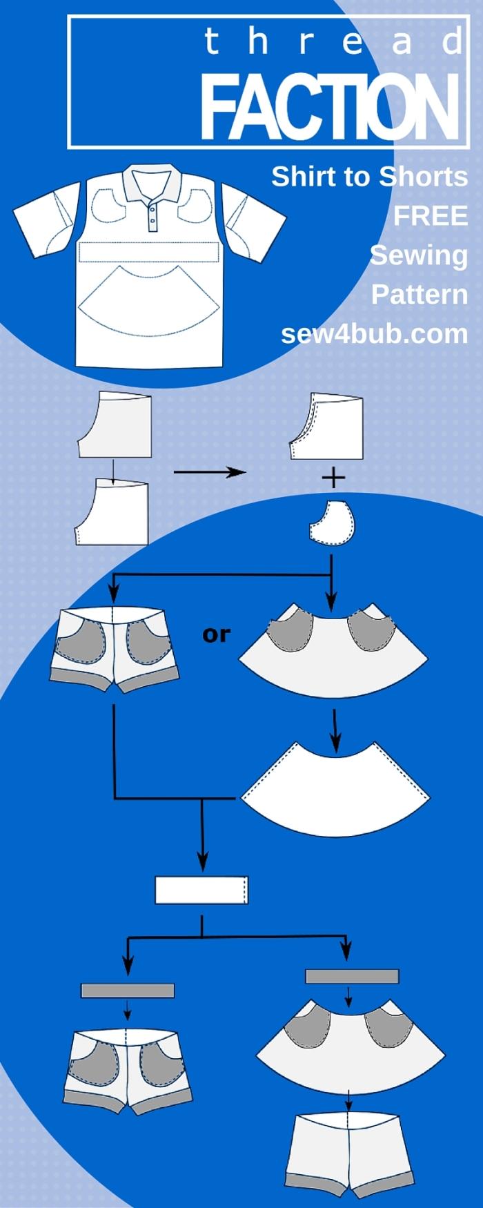 Shirt to ShortsFREE Patternsew4bub.com (1)