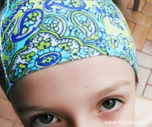 Kids Swimming cap free pattern sew4bub.com