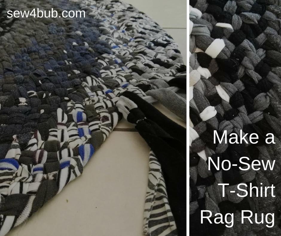 T Shirt Rag Rug Tutorial: Make A No-Sew, T-Shirt Rag Rug [Video Tutorial]