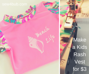 How to sew a $3 rash vest for kids sew4bub.com
