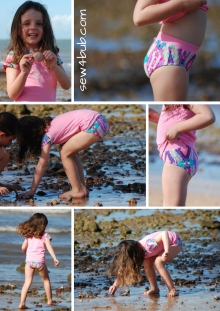 Higher waist swim bottoms for kids
