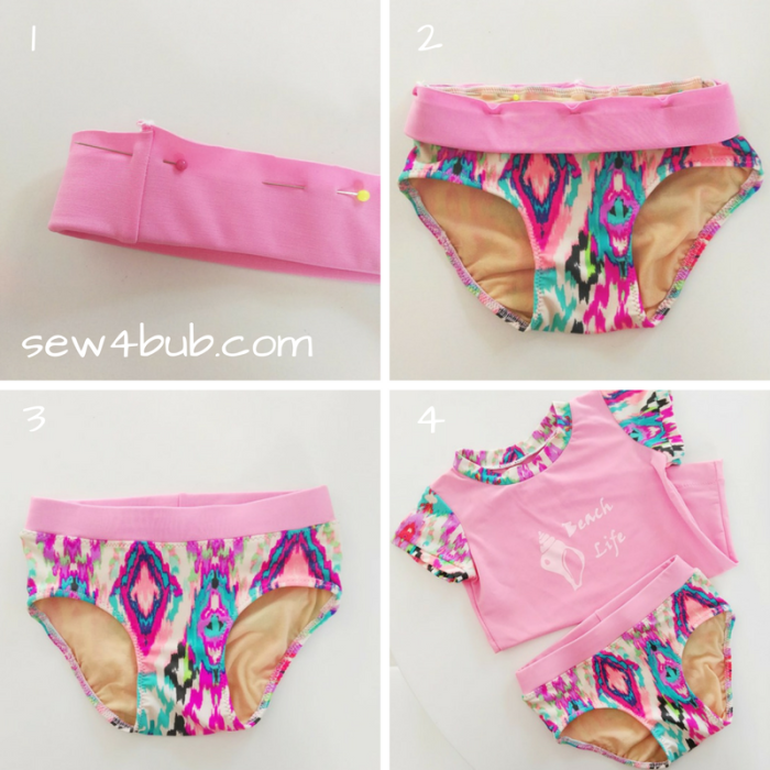 swim bottoms sewing steps 2