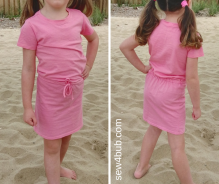 2 x t-shirt = summer dress tutorial sew4bub.com