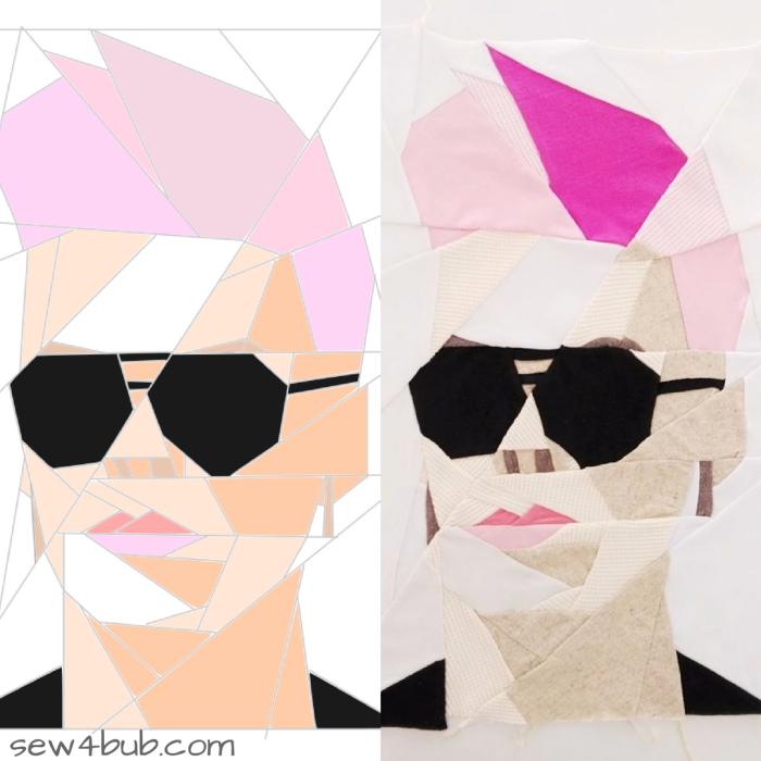 Pink Portrait Mosaic sew4bub.com